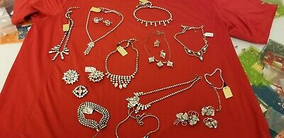 $ CDN420 • Buy Lot Of Vintage Jay Flex Sterling Jewelery, Necklaces, Earing's, Brooches, Bracel