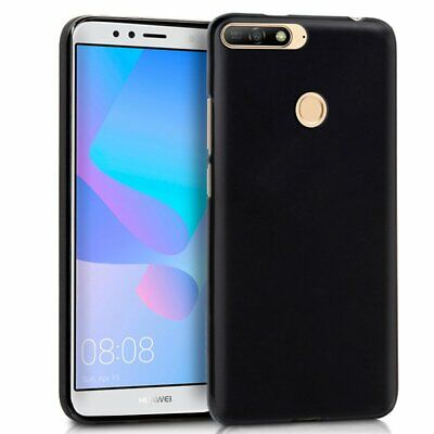 £2.62 • Buy Cover TPU Gel Silicone Rubber For Huawei Honour 7A Black Case Skin
