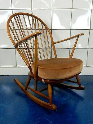 Ercol Model 315 Windsor Grandfather Rocking Arm Chair Vintage Mid Century Mcm • 295£