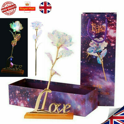 Fashion Galaxy Rose Romantic Flower Valentine's Day Lovers Rose With Gift Box UK • 6.59£