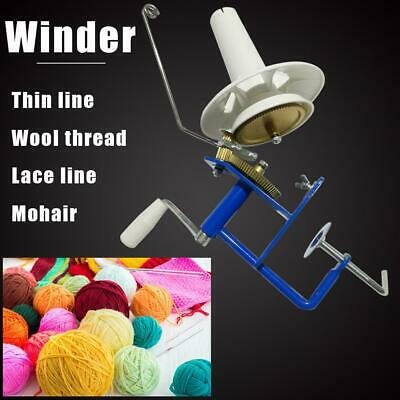 Large Metal Yarn Fiber String Ball Wool Hand Operated Cable Winder Machine UK • 31.26£
