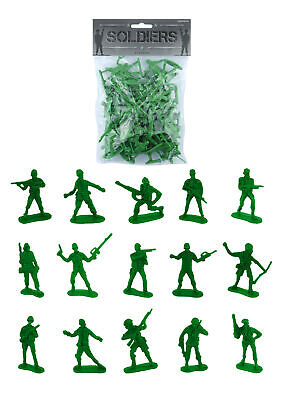 £1.99 • Buy 50 Green Toy Soldiers - Pinata Toy Loot/Party Bag Fillers Children/Kid Army Men