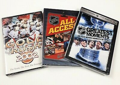 $ CDN16.97 • Buy NHL Hockey DVDs - Lot Of 3: Gold Rush 2002, NHL All-Access, NHL Greatest Moments