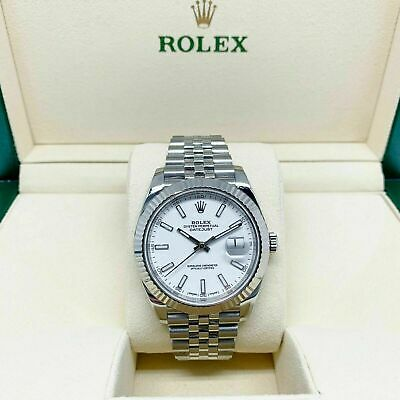$ CDN12974.37 • Buy Rolex 41MM Jubilee Datejust Watch 18K Gold/Stainless Ref # 126334 2016 WhiteDial