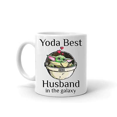 $16.95 • Buy BABY YODA BEST HUSBAND IN THE GALAXY INSPIRED VALENTINES GIFT 11oz WHITE CERAMIC