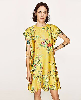 $29.99 • Buy New  Yellow Combined Floral Print Dress From Zara Size Small