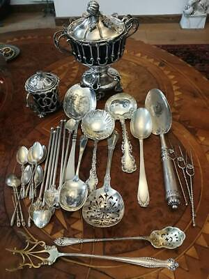 $ CDN978.19 • Buy Antique Sterling Silver Lot Serving Pieces