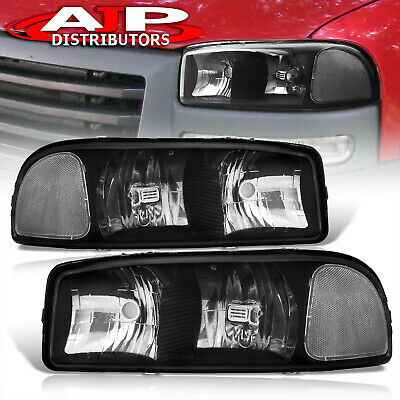 $67.99 • Buy Black Clear Replacement Headlights Lamps Pair For 2000-2006 GMC Sierra Yukon XL