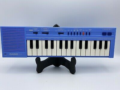$74.99 • Buy Casio Computer PT-1 Electronic Mini Keyboard Piano Baby Blue Rare Vintage Japan