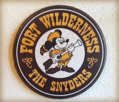 $44.95 • Buy Custom FORT WILDERNESS SIGN Disney World Prop Customized Reproduction Plaque 8