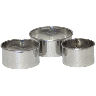 TALA PLAIN PASTRY CUTTERS Stainless Steel Set Of 3 Tarts Mince Pies Quiches • 4.95£