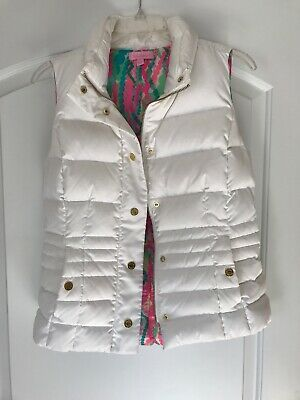 $22 • Buy Lilly Pulitzer Puffer Vest White Small
