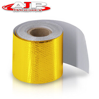 $13.99 • Buy High Temperature Heat Shield Wrap Roll 2  X 180  Self Adhesive Gold Barrier Tape