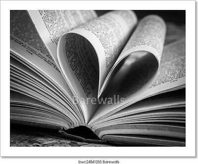 $19.95 • Buy Black And White Love Heart Art/Canvas Print. Poster, Wall Art, Home Decor - D