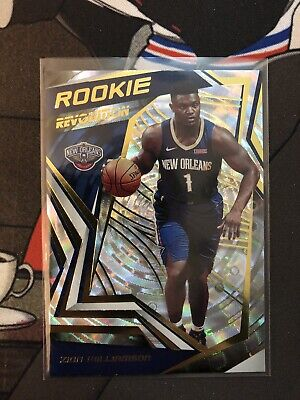$35 • Buy Zion Williamson 2019-20 Revolution Fractal New Orleans Pelicans Rookie Rc Ssp