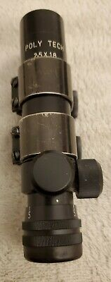 $160 • Buy Orig Chinese Poly Tech Rifle Scope 2.5 X 18 Vintage Navy Arms Polytech Norinco