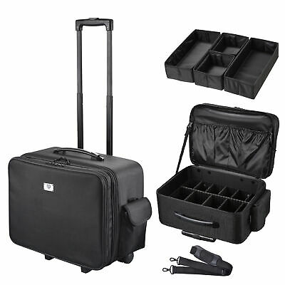 $99.90 • Buy AW Rolling Soft Sided Makeup Case Cosmetic Luggage Pro Artist Division Storage