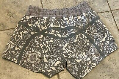 $14.99 • Buy Lululemon Women Run Speed Shorts Floral Gray Size 6