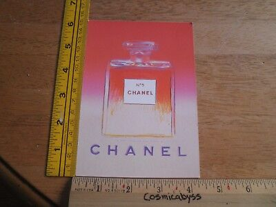 $12.95 • Buy Chanel No.5 1997 Advertising Postcard With Sample Andy Warhol Art B