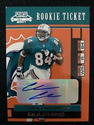 $ CDN1.29 • Buy 2001 Playoff Contenders #114 Chris Chambers Rookie Rc Miami Dolphins Autograph