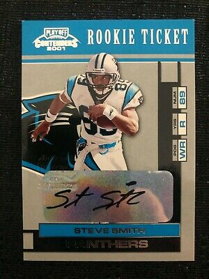 $ CDN1.29 • Buy 2001 Playoff Contenders #190 Steve Smith Rookie Carolina Panthers Autograph
