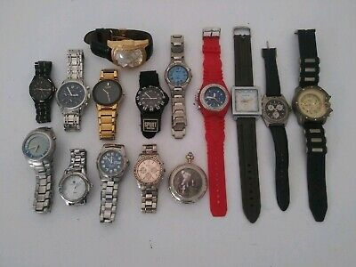 $ CDN47.30 • Buy  VTG TO NOW WATCH LOT OF 15 WATCHES FOR MEN  - GOLD SILVER TONE Untested