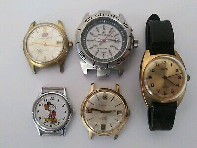 $ CDN13.80 • Buy  VTG TO NOW WATCH LOT OF 5 WATCHES FOR MEN - CARAVELLE,LORUS,FREESTYLE Untested