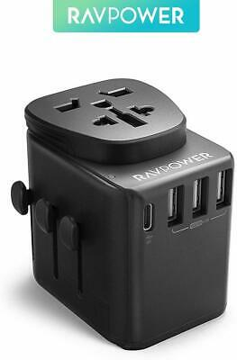 AU78.65 • Buy RAVPower 3 USB Type-C Power Delivery Port Universal Travel Adapter 30W RP-PC099