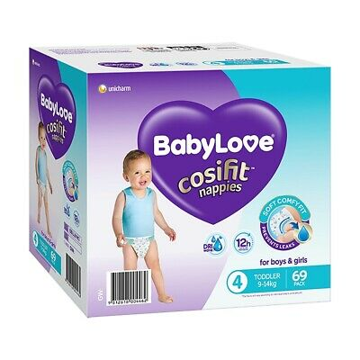 AU26.99 • Buy BabyLove Cosifit Nappies Toddler (9-14kg) X 69 (Limit 2 Boxes Per Order)