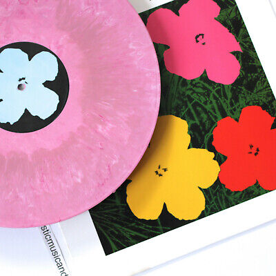 $75 • Buy Andy Warhol Art Cover Flowers Lp Pink Marble Vinyl Limited 100 Rare