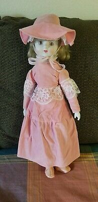$ CDN19.59 • Buy Porcelain Face Victorian Doll Blonde Hair In A Pink Dress Vintage 19