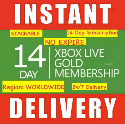 $3.38 • Buy Xbox Live 14 Day Xbox One Gold- Ultimate W/ Game Pass Code Instant Dispatch 24/7