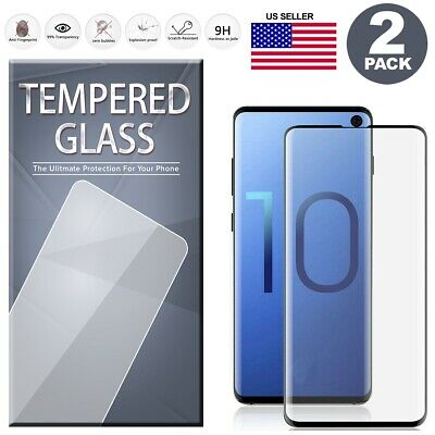 $ CDN6.20 • Buy 2 Full Tempered Glass Full Adhesive For Samsung Galaxy Note 8 9 S8 S9 S10 Plus +