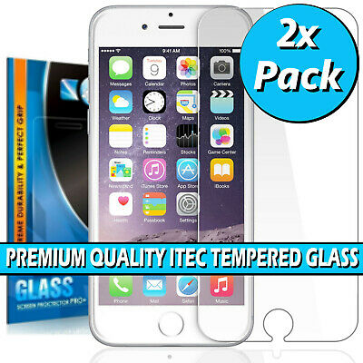 £2.69 • Buy 100% Genuine Tempered Glass Screen Protector For IPhone SE 2 (2020) 5 6 6S 7 8