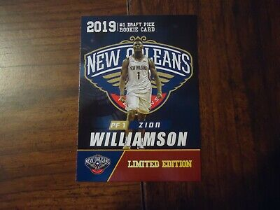 $2.99 • Buy Zion Williamson 2019 Rookie Gems #1 Draft Pick Limited Edition Card PF1 Pelicans