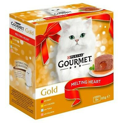 Purina Gourmet Gold Melting Heart Cat Food Meat And Fish 8 X 85g • 12.99£