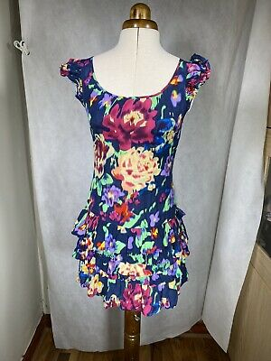 £7.99 • Buy Lipsy Dress Size 8 Petite / Teen Party Prom  Pleat Sleeves Trim