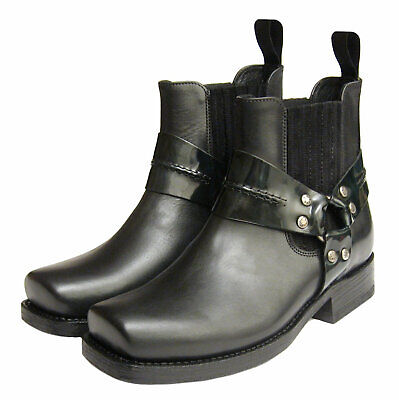 £150 • Buy *NEW* Designer Sancho Heeled Harness Boots In Black Leather Made In Spain EU 39