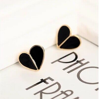 $ CDN20.40 • Buy Kate Spade New York Black Heritage Spade Heart Earrings On Card W/ Gift Box