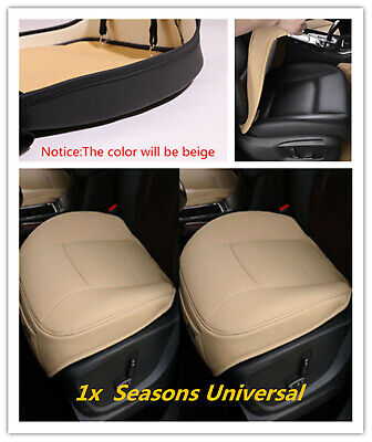 $ CDN27.46 • Buy Beige PU Leather Car Front Seat Cover Non-slip Protector For Seasons Universal