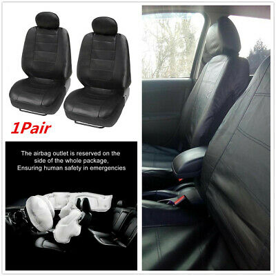 $ CDN26.41 • Buy 1 Pair 4-seasons Universal Car Front Seat Cover Breathable Faux Leather Cushion