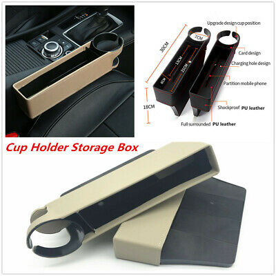 $ CDN18.13 • Buy 1Pcs Multi-use PU Leather Seat Crevice Storage Box Cup Holder For Car SUV Truck