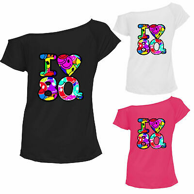 Ladies I Love The 80s T-Shirt Fancy Dress Costume Neon Festival Womens Outfit • 5.49£