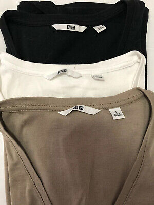 AU10 • Buy UNIQLO Supima Cotton V Neck TShirt X3 Size S