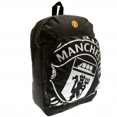 Manchester United Backpack Black Official Merchandise Kids School Bag Rucksack • 19.99£