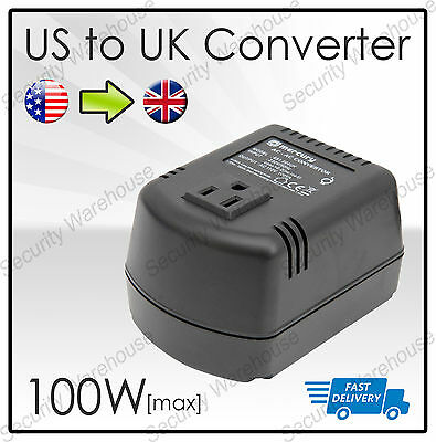 STEP DOWN VOLTAGE CONVERTER Transformer 230V TO 110V 100W USA TO UK Adapter • 25.40£