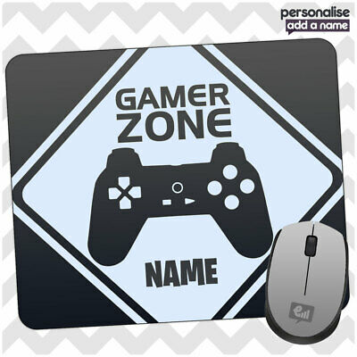Personalised GAMER ZONE Controller Mouse Mat Pad Kids Laptop Computer Room Gift • 4.95£