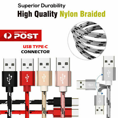 AU4.99 • Buy Fast Speed Charging USB Type C Data Charger Cable For Samsung Huawei Google LG