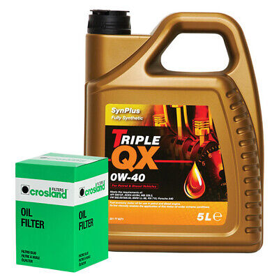 Triple QX Fully Synthetic Plus 0W40 Engine Oil 5L+Oil Filter RANGE ROVER 3.0 TD6 • 55.98£