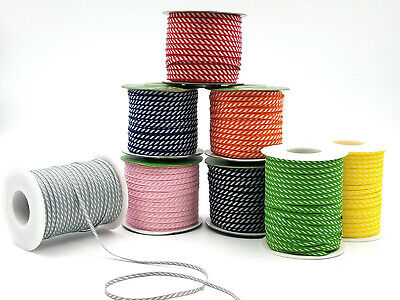 NEW! May Arts 5mm Diagonal Striped Ribbon - Price Per Metre Or On A 91.4m Roll • 0.99£